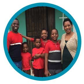 Rev. Charles Mulemena and Family